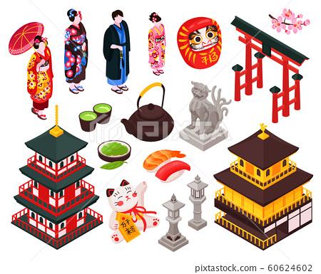 Japan Isometric Icon Set 60624602