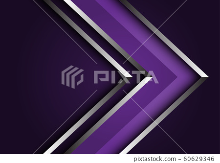Abstract violet silver line arrow direction design modern luxury futuristic background vector illustration. 60629346