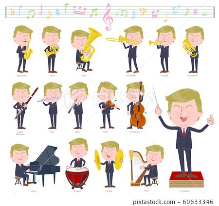 no face Blond hair suit man_classic music 60633346