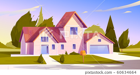 Suburban house, residential cottage, real estate. 60634664