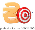 Target with hryvnia symbol, Successful business 60635765