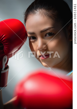 女子體育拳擊 60651481