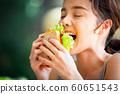 여성 라이프 스타일 식사 60651543