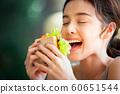 여성 라이프 스타일 식사 60651544