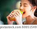 여성 라이프 스타일 식사 60651549