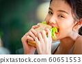여성 라이프 스타일 식사 60651553