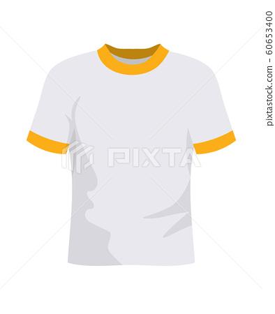 Soccer t shirt flat vector illustration 60653400