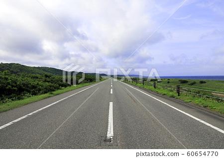 Oloron line straight road 60654770