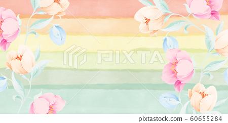 優雅美麗的水彩玫瑰花花卉 60655284