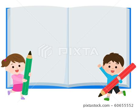 兒童小學生筆記文本空間學習插圖 60655552