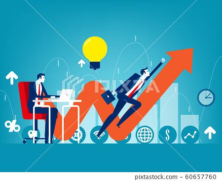 Entrepreneur startup. Concept buisness vector 60657760