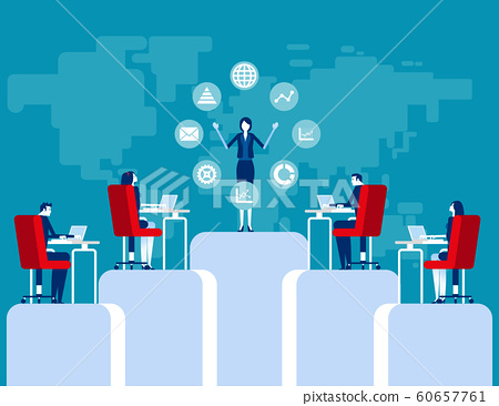 Business learning at professional. Concept 60657761