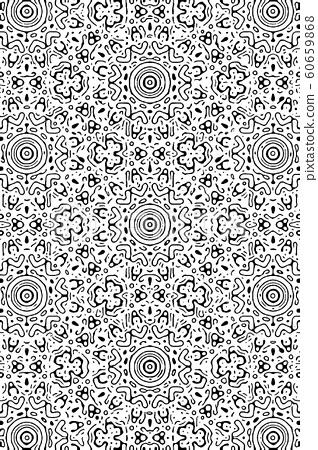 Monochrome pattern / 191125 / design goods, hidden face 60659868