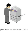操作复印机的商人 60661428