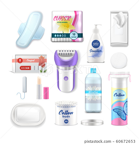 Female hygiene and daily health care products 60672653