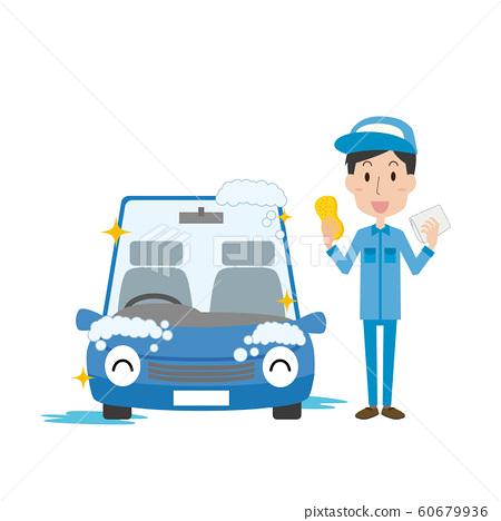 洗車乘用車男 60679936
