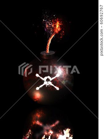 폭탄이 폭발하는 순간 클로즈업 60692767