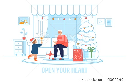 Grandpa and Kid in Cozy Room Inspiration Poster 60693904