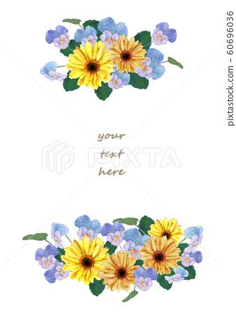 非洲菊和三色堇水彩 60696036