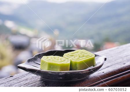 綠豆糕 茶點 糕點 茶樓 台灣 中秋節 Chinese Mung bean bake お菓子  60703052