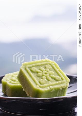 綠豆糕 茶點 糕點 茶樓 台灣 中秋節 Chinese Mung bean bake お菓子  60703057