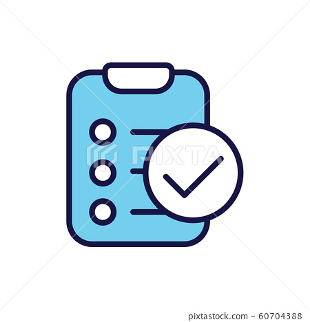 In Compliance Icon with paper, checks & list 60704388