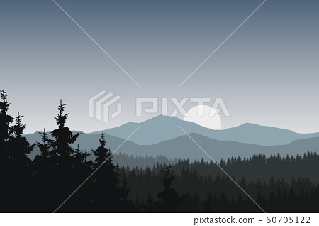 Vector illustration of mountain landscape with 60705122