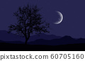 Realistic illustration of a night mountain 60705160