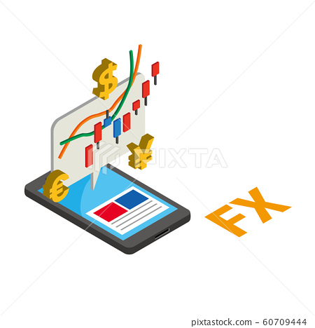 FX exchange trading smartphone chart rate foreign exchange margin trading 60709444
