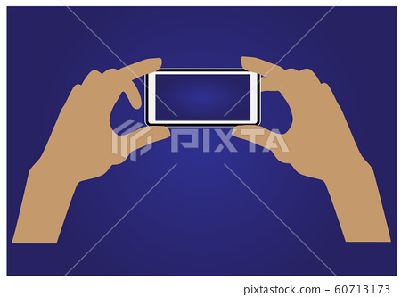take a photo by mobile vector design 60713173