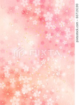 櫻花_淺粉色和紙_垂直背景 60719190