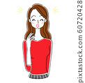 여성 미용 미소 기쁨 60720428