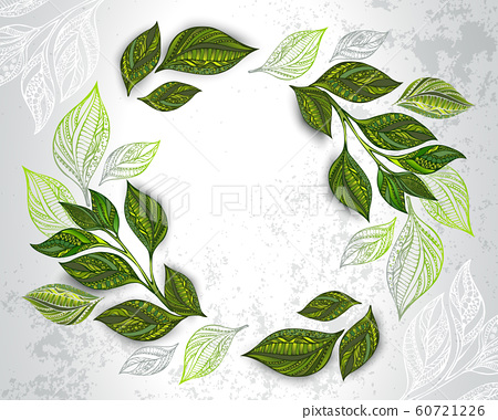 Composition of patterned tea leaves 60721226