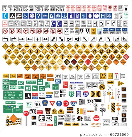 Road Signs and Symbols set 60721669