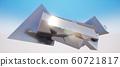 鮮豔細緻的抽象金屬幾何方塊牆紋理背景(高分辨率 3D CG 渲染∕著色插圖) 60721817