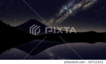 Night color galaxy upside down Fuji 60722832