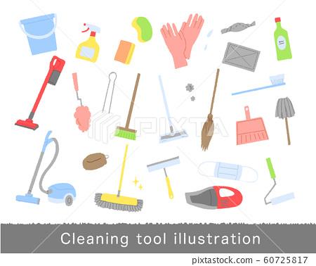 清潔工具插圖集 60725817