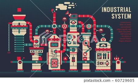 Conveyor machine inside factory 60729605