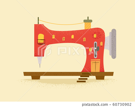 Sewing Machine Building Illustration 60730902