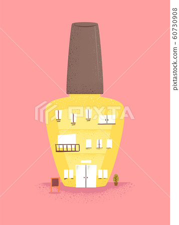 Nail Polish Building Illustration 60730908