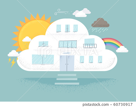 Cloud Weather Building Illustration 60730917