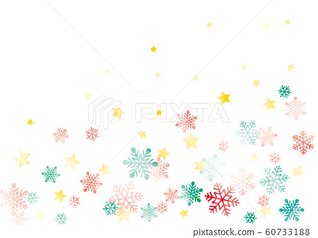Snow and stars background watercolor Christmas color 60733188
