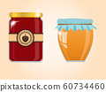 vector set of jam and honey 60734460