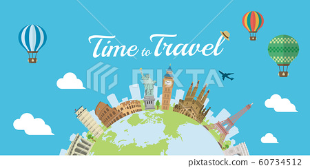 Overseas Travel / Vacation Image Banner / World Famous Buildings (Ruins, Buildings, World Heritage) 60734512
