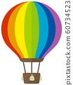 氣球,熱氣球,廣告氣球彩色插圖 60734523