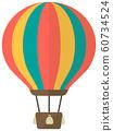 Balloon, hot air balloon, ad balloon color illustration 60734524