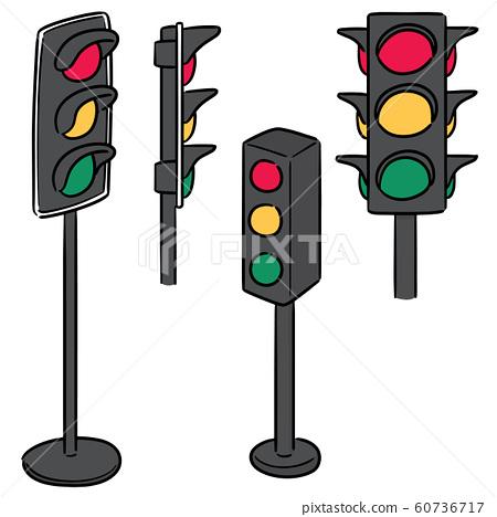 vector set of traffic light 60736717