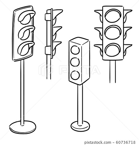 vector set of traffic light 60736718