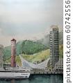 Night view of sketch port tower Kobe in Kobe Harborland 60742556