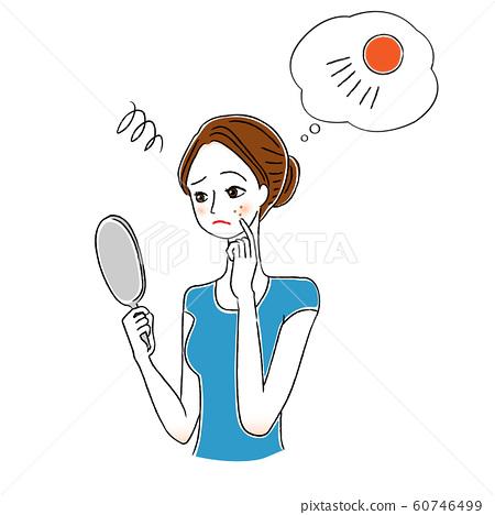 여성 스킨 케어 자외선 UV 60746499